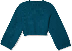 Sweaty Betty Blossom Knit Crop in Dark Teal, Small/Medium