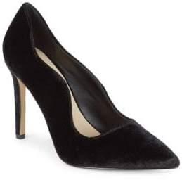 Saks Fifth Avenue Karlie Velvet High Heel Pump