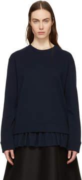 Cédric Charlier Navy Frill Sweatshirt