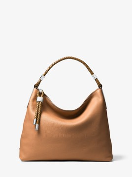 Michael Kors Skorpios Large Pebbled Leather Shoulder Bag