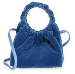 The Row Small Velvet Double Circle Bag
