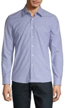 Hyden Yoo Slim Dotted Cotton Button-Down Shirt