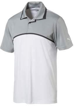 Puma Closeout Men'S Tailored Colorblock Polo Bright White L