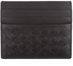 Bottega Veneta Intrecciato Weave Leather Card Holder