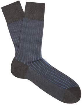 Falke Shadow bi-colour knit socks