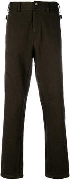 Damir Doma straight leg side buckle detail trousers