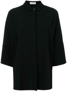 Alberto Biani concealed front blouse
