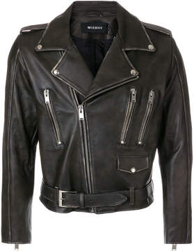 Misbhv zip detail biker jacket
