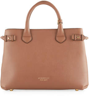 Burberry Grained Leather Satchel Bag