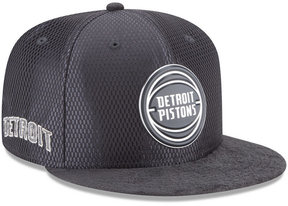 New Era Detroit Pistons On-Court Graphite Collection 9FIFTY Snapback Cap
