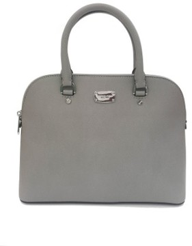 Michael Kors Cindy LG Dome Satchel Leather Pearl Grey (35S6SCPS3L) - ONE COLOR - STYLE
