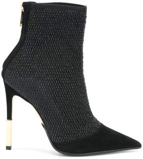 Balmain quilted ankle boots