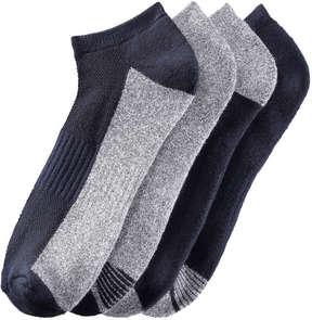 Joe Fresh Men's 4 Pack Seamless Toe Sport Socks, JF Midnight Blue (Size 10-13)
