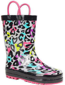Western Chief Girls' Groovy Leopard Rain Boot