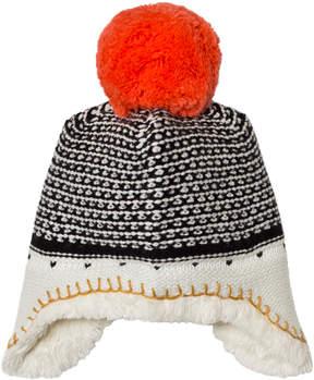 Catimini Unisex Multi Knit Pom Pom Hat with Teddy Lining