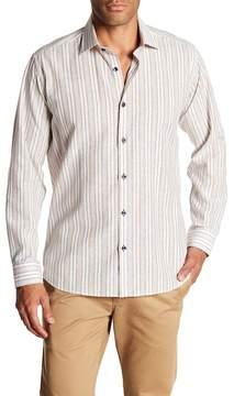 Jared Lang Patterned Woven Shirt