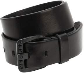 Diesel 40mm Smooth Brushed Leather Belt