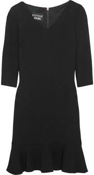 Moschino Stretch-knit Peplum Mini Dress - Black