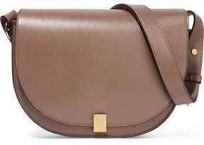 Victoria Beckham - Half Moon Box Leather Shoulder Bag - Mushroom