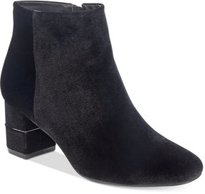 Alfani Women's Nickki Step 'N Flex Block-Heel Ankle Booties, Created For Macy's Women's Shoes