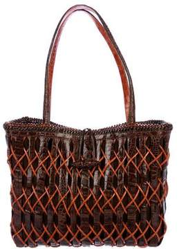 Nancy Gonzalez Patchwork Crocodile Tote