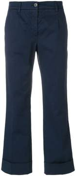 Fay cropped turn up trousers