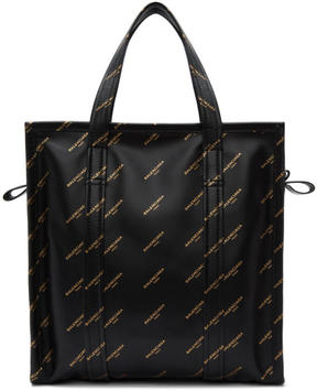 Balenciaga Black Small AJ Bazar Logo Shopper Tote