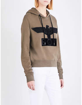 Boy London Bristle logo cotton-jersey hoody