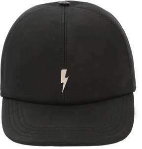 Neil Barrett Bolt Leather Baseball Hat