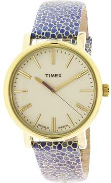 Timex Women's Originals T2P326 Gold Leather Quartz Fashion Watch