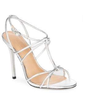 Halston Strappy Leather Pumps