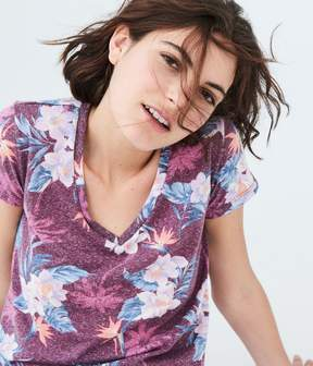 Aeropostale Seriously Soft Floral V-Neck Tee