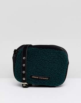 Armani Exchange borg crossbody bag
