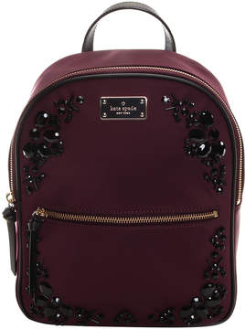 Kate Spade Deep Plum Embellished Small Bradley Wilson Road Backpack