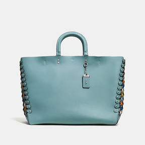Coach Rogue Tote With Colorblock Link Detail