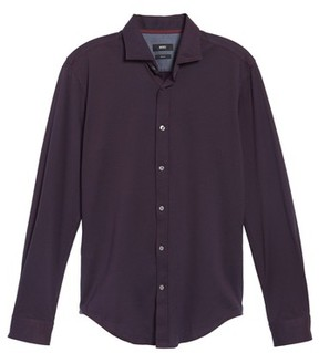 BOSS Men's Ridley Slim Fit Jersey Sport Shirt