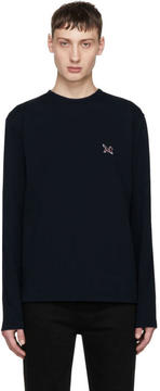 Calvin Klein Navy Long Sleeve Logo T-Shirt