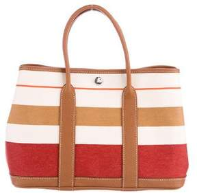 Hermes Striped Canvas Garden Party PM - BROWN - STYLE
