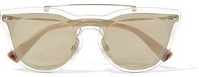 Valentino - Cat-eye Acetate And Gold-tone Sunglasses