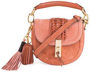 Altuzarra Mini Braided Top-Handle Saddle Bag, Pink
