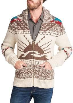 Faherty Sun & Wave Zip Cowichan Sweater - Men's