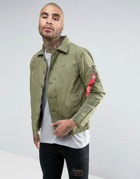 Alpha Industries Military Overshirt Jacket in Green