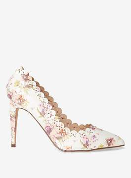 Dorothy Perkins White print 'Gabi' Court Shoes