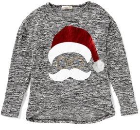 Copper Key Big Girls 7-16 Christmas Santa Top