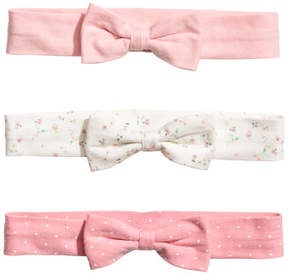 H&M 3-pack Hairbands - Pink