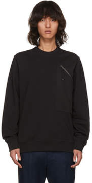 Diesel Black Gold Black Side Zip Sweatshirt