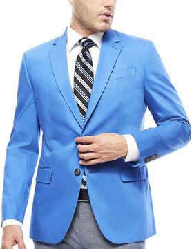 Jf J.Ferrar JF Cotton Cobalt Sport Coat - Slim Fit