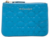 Comme des Garcons Clover Embossed Small Pouch in Blue.