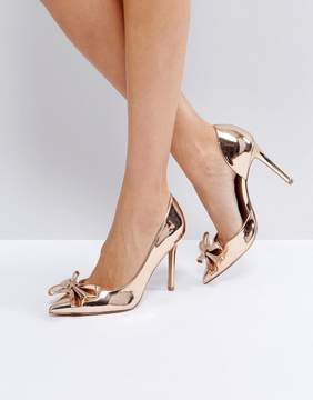 Asos POPPIN Pointed Bow High Heels