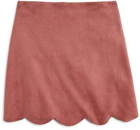 Aqua Girls' Faux-Suede Scalloped-Hem Skirt, Big Kid - 100% Exclusive